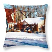 Sunshine After The Snow Throw Pillow