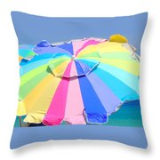 Sunshine And  Rainbows Throw Pillow