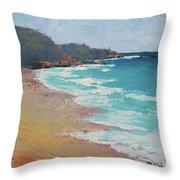 Sunshine Beach And Lions Head Noosa Heads Queensland Throw Pillow