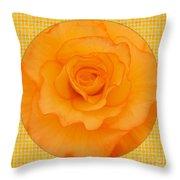 Sunshine Begonia Throw Pillow