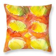 Sunshine Circles Throw Pillow