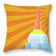 Sunshine City Throw Pillow