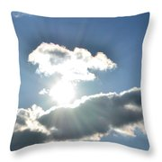 Sunshine Clouds Throw Pillow