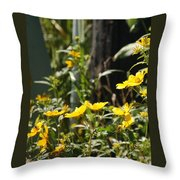 Sunshine Flowers 2 Throw Pillow