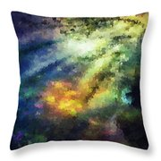 Sunshine Forest Throw Pillow