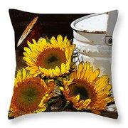 Sunshine From The Garden Throw Pillow