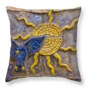 Sunshine Loving A Bluebird Throw Pillow