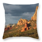 Sunshine On Sedona Rocks Throw Pillow
