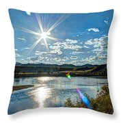 Sunshine On The Missouri Throw Pillow