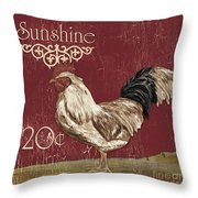 Sunshine Rooster Throw Pillow