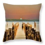 Sunshine State Sunset Throw Pillow