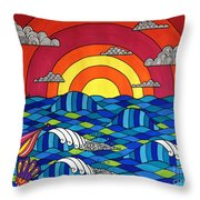 Sunshine Through My Window Throw Pillow by Susan Claire