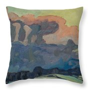 Sunup On A Snowsquall Throw Pillow