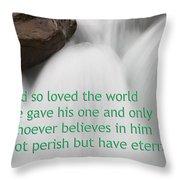 Sunwapta Waterfall John 316 Throw Pillow