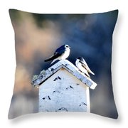 Sunworship Throw Pillow