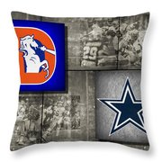 Super Bowl 12 Throw Pillow
