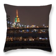 Super Bowl Colors Throw Pillow