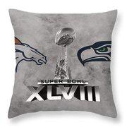 Super Bowl Xlvlll Throw Pillow