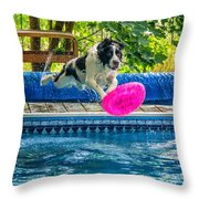Super Dog 2 Throw Pillow