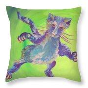 Super Kitty Throw Pillow