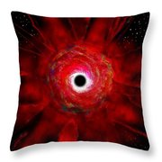 Super Massive Black Hole Throw Pillow