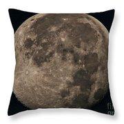 Super Moon 3628 August 2014 Throw Pillow
