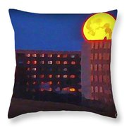 Super Moon In Halifax Nova Scotia Throw Pillow