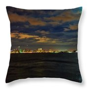 Super Moon Over San Diego 1 Throw Pillow