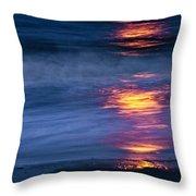 Super Moon Reflection Throw Pillow