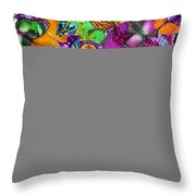 Super Rainbow Butterflies Throw Pillow