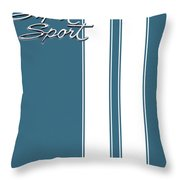 Super Sport Blue Throw Pillow