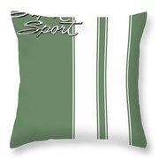 Super Sport Green Throw Pillow