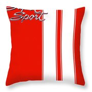Super Sport Red Throw Pillow by Gabe Arroyo