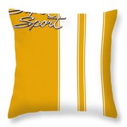 Super Sport Yellow Throw Pillow