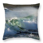 Super Wave At The Barents Sea Coast Throw Pillow