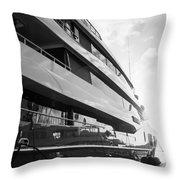 Super Yacht Throw Pillow