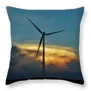 Supercell Windmill Throw Pillow