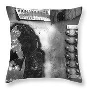 Supercharged Man Throw Pillow