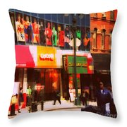 Superheroes Of New York - Midtown In Gotham City Throw Pillow
