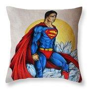 Superman Lives On Throw Pillow
