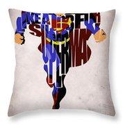 Superman - Man Of Steel Throw Pillow by Ayse Deniz