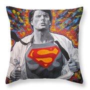 Superman  Throw Pillow