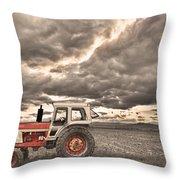 Superman Sepia Skies Throw Pillow