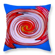 Superman In Motion Throw Pillow