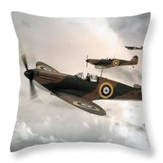 Supermarine Spitfire Mk I Throw Pillow