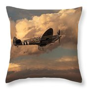 Supermarine Spitfire Mk Lfix  Throw Pillow