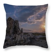 Supermoon At Mono Lake Throw Pillow