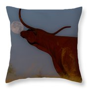 Supermoon On The Ranch Throw Pillow