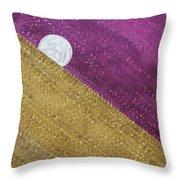 Supermoon Original Painting Throw Pillow