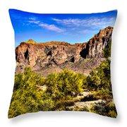 Superstition Mountain Arizona Throw Pillow